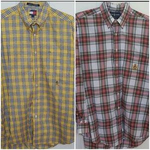 BUNDLE of 2 plaid button down shirts